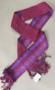 "4"" Reversible Burgundy Silk and Merino Wool Scarf"